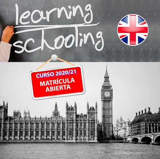 Cartel de matrícula abierta para en la Academia de Inglés Segovia para el curso 2020/21